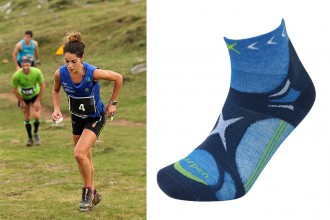 Lorpen-T3-Trailrunning-Socken-in-hellblau-Composing