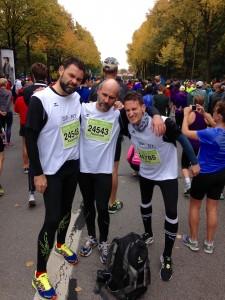 Angry Lauf-Boys kurz vor dem Start: Alex, Reiner und Jörg