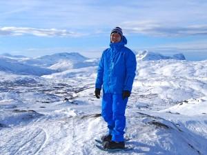 Stephan Scharf in Lappland auf dem Haglöfs Arctic Weekend.