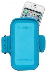 Mit dabei: Die praktische und wendbare Armtasche für den BackBeat Fit von Plantronics - Foto: Hersteller