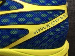 Die Fersenkappe des Wave Catalyst von Mizuno - Foto: Alex Rudolph