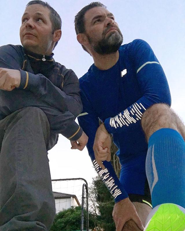Gleich geht's los: Christian und Alex (inkl. Ride 10 am Fuß) - Foto: Alex Rudolph